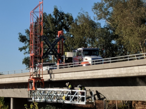 HPT 38 Truck Mounted Platform inspecting Bridge